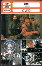 BRAZIL - Pryce,De Niro,Holm,Hoskins,Gilliam (Fiche Cinéma) 1984