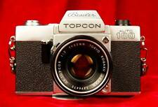Mint Condition BESELER TOPCON AUTO 100 Camera + Rare BLACK f2.0 53mm Japan Lens