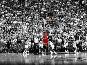 BASKETBALL MICHAEL JORDAN THE LAST SHOT NBA POSTER PRINT ART SIZE A1 A2 A4