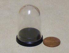 1:12 escala de plástico cúpula pequeña con una pantalla de base negra casa de muñecas accesorio