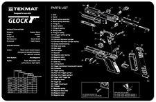 """For GLOCK 17  GEN 1-3 TekMat Gun Cleaning Mat 11""""x17"""" Armorers Bench Mat"""