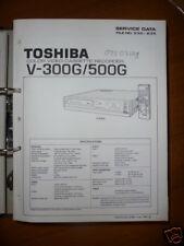 Manual De Servicio Toshiba V-300G/500G Vídeo Record,ORIGEN