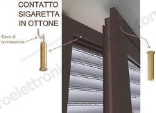 AS10 - Contatto magnetico a sigaretta in ottone per Allarme su porte finestre