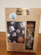 Decorative LED String Lights Studio Mercantile 40 Cool White 10 FT 4 Hour Timer