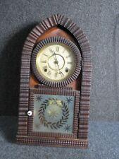 Rosewood Ripple molding Beehive clock Pat. June 1887