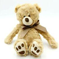 "GANZ 7"" Jesse H14321 Soft Brown Teddy Bear w/Brown Bow Plush Toy Stuffed Animal"