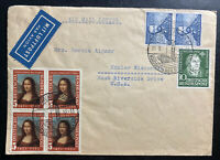 1952 Wilhelmshaven Germany Airmail Cover To Kohler WI USA