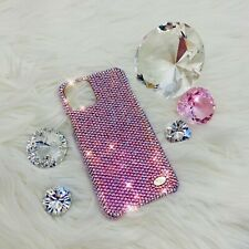 For iPhone 12 Pro - small 12ss Light Rose AB Bling Back Case made w/ Swarovski