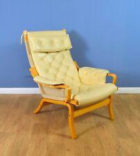 Mid Century Retro  Danish Cream Leather Lounge Armchair (2 available) 1970s
