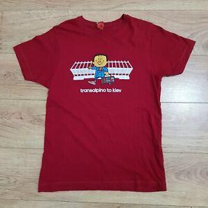 Transalpino Mens Liverpool FC Rare Red 'Road to Kiev' Top T-Shirt - Size Small