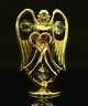 SWAROVSKI CRYSTAL ELEMENT JUNE BIRTHSTONE LIGHT AMETHYST ANGEL 24K GOLD PLATED