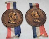 2 x Vintage 1937 King Edward VIII Metallic Finish Coronation Medals