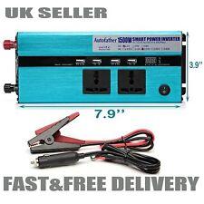 3000W PEAK Car Power Inverter Converter 12V DC to 230V AC W/4 USB Port AC Outlet