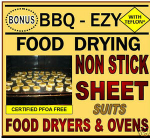 FOOD Dehydrator SHEETS fits Exalibur Food DRYERS & PRESERVERS.Foodsafe Nonstick
