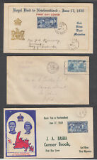 Newfoundland, Jewelry FDC's Royal Visit 1939 Corner Brook -St.Johns e.g. NFLD