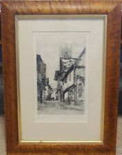 St Lawrence's Church Ipswich, DOROTHY F SWEET Framed Etching Pencil Signed