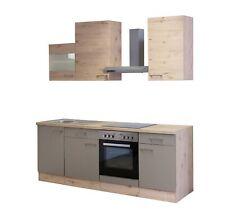Einbauküche Küchenblock E Geräte Elektrogeräte Küchenzeile 220cm bronze metallic