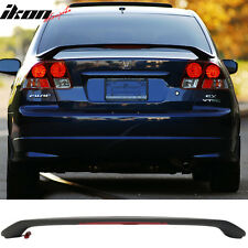 Matte Black! 01-05 Civic 7th 4DR Sedan OE Trunk Spoiler & LED 3rd Brake Light