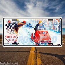 Moto-Ski Vintage snowmobile style license plate