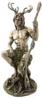 """10.5"""" Herne The Hunter Figurine Statue Celtic God Lord of The Forest Cernunnos"""