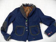 DESIGUAL wunderschöner Wollblazer LOGRONO blau Gr. 44 TOP BB718