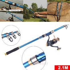 2.1M Carbon Fiber Fish Rod Spinning Lure Rod Freshwater Saltwater Fishing Pole