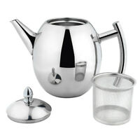 1/1.5L Stainless Steel Teapot Tea Pot Coffee Kettle With Tea Leaf Filter Infuser