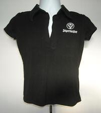 Jagermeister Polo Shirt Womens Juniors Medium Black White Logo