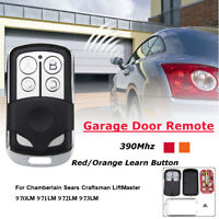 4BT Garage Door Remote Control 390Mhz For Chamberlain Sears Craftsman LiftMaster