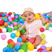 100Pcs Colorful Ball Ocean Balls Soft Plastic Ocean Ball Baby Kid Swim Pit Toy