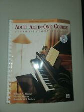 Alfred's Basic Adult All-In-One Piano Course: Level 1 Softback Piano with Disc