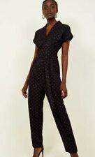 New Look - Black Geometric Print Twill Utility Jumpsuit - Size 12 - BNWT