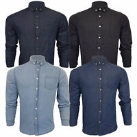 Mens Brave Soul Denim Shirt Long Sleeved Work Top Cotton Summer Fashion Casual