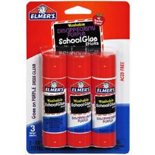 578x (3pk x192) Elmers Glue Sticks Washable Non-Toxic Disappearing Purple 0.53oz