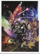 Togo 1997 MNH Star Wars Luke Skywalker Han Solo Princess Leia 1v Imp M/S Stamps