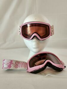 SCOTT Junior Youth Ski Goggles Powder Pink Polka Dot Band Pink ROSE VIOLET Lens