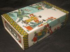 Chinese 19th Century Famille Verte Porcelain Pillow