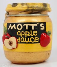 Rare - Vintage 1975 Mott'S Apple Sauce Chalkware Jar, by Juta Sangthaweep