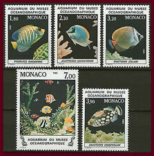 1985 MONACO  N°1483/1487** POISSON Fish National Oceanographic Aquarium MNH