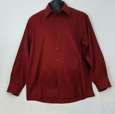 Kenneth Cole Reaction Red large button front men's shirt Large 16 1/2 - 34/35