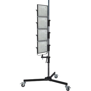 "87"" Wheeled Roller Light Stand for Photo Studio w/ Adjustable Height Lamp Mount"