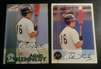 LOT (2)1999 Team Best & Just rookie Autograph Adam Kennedy Auto Rookie RC