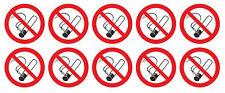 10 Stück Rauchen verboten Aufkleber - Nichtraucher - Rauchverbot - 3 cm 5147