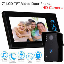 "7"" Video Door Bell Phone Camera+Monitor for Home Office System Security Intercom"