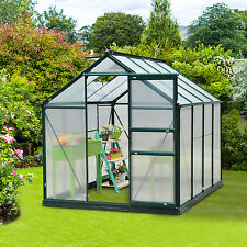 Outsunny 6'x8'x7' Aluminum Frame Walk In Greenhouse Garden Hobby Green House New