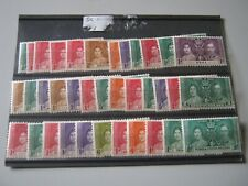 OMNIBUS 1937 CORONATION 35 LOW VALUE STAMPS MINT HINGED