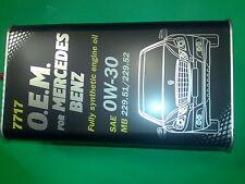 4L MANNOL 0W-30 Motoröl 7717 O.E.M.OEM für Mercedes MB 229.51 MB 229.52 229.31