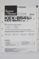 PIONEER kex-8541zt kex-8541zt-91 Original Service-Manual/schema elettrico o62