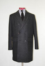 Wool Overcoat Long Double Breasted Coats & Jackets for Men