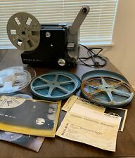 1970'S Vintage Bolex 18-3 Duo Reel Film Projector & Empty Film Reels and Manual